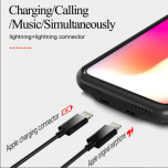 Rocky Life Audio Case iPhone XR dubbel lightning